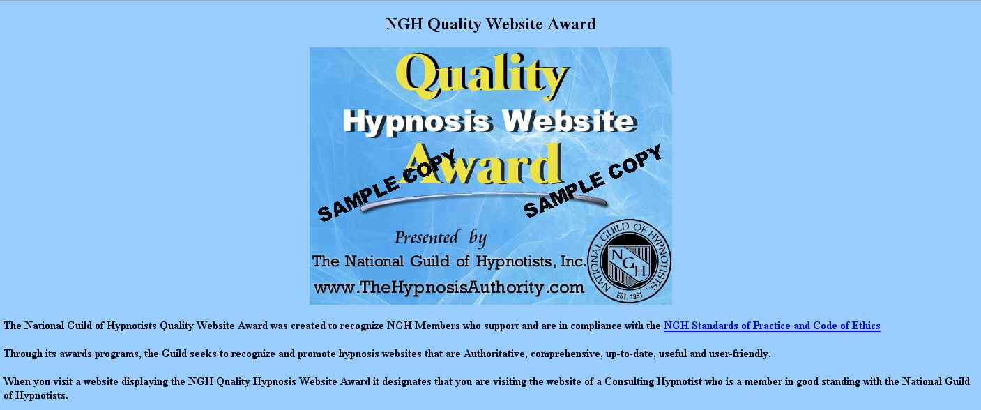 Web Site Quality Award Info