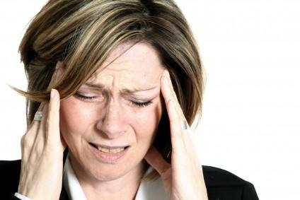 Women suffering from Workplace stress